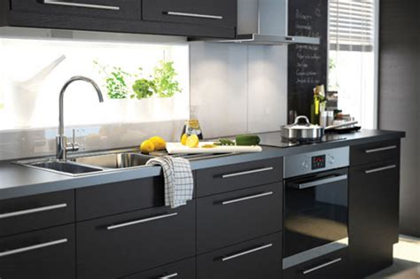 ikea black brown kitchen cabinets country style dining kitchen cabinets ikea black 7433