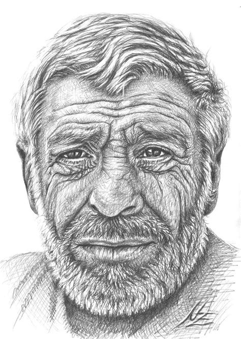 Old Man From Greece Drawing By Nicole Zeug