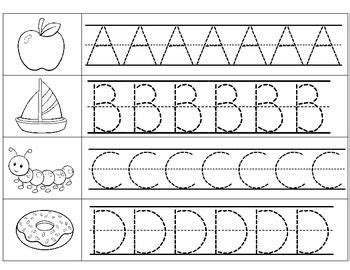 alphabet tracing pages  images alphabet practice