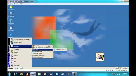 windows  professional sp running  oracle vm