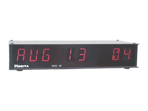 horita company mdd time code alphanumeric date led display