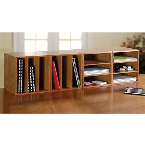 Desktop Bookcase by Cubi Desk Bookcase Wood Bookcase Stackable Storage