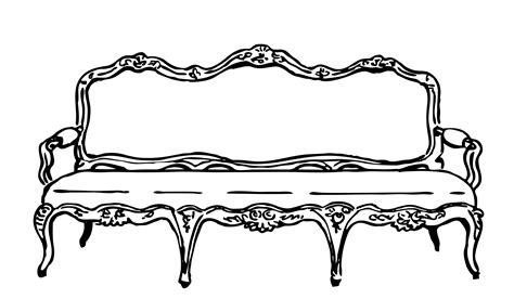 tufted settee sofa clipart illustration free stock photo domain