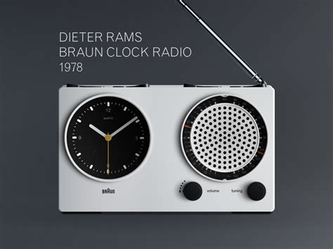dieter rams braun clock  sketch freebie