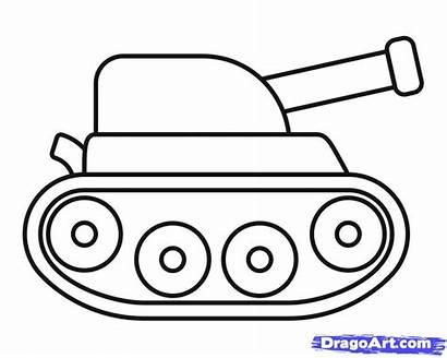 Draw Tank Step Drawing Steps