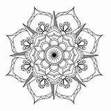 Mandala Coloring Adult Flower Therapy Pdf sketch template
