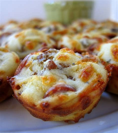 Food & Drink  Pinterest Great Party Appetizers  Pizza Puffs