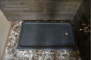 Receveur Douche Couleur : receveur de douche 120x100 granit noir haut de gamme kiaora ~ Edinachiropracticcenter.com Idées de Décoration