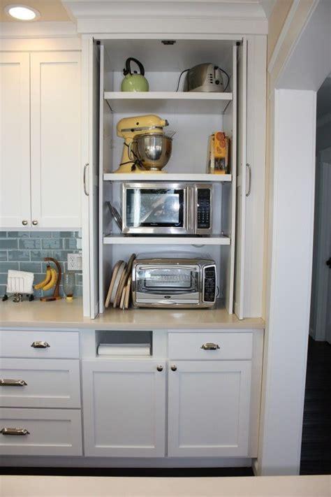ideas   hidden appliance cupboard kitchens
