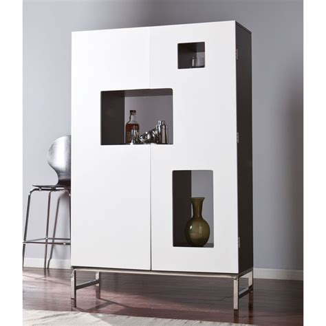 White Living Room Storage Furniture by Place This Contemporary Inspired Bar Cabinet In Your