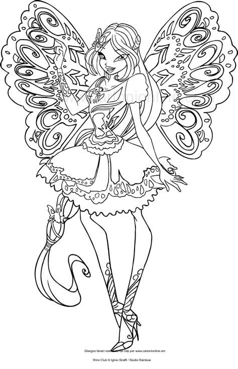 disegni da colorare winx disegno di flora butterflix winx club da colorare