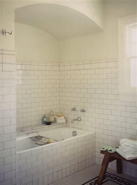 white subway tile bathroom ideas 29 white subway tile tub surround ideas and pictures