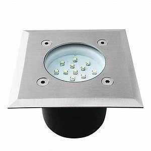 Spot Exterieur 12v : spot encastrable carr led ext rieur 230v acier bross ip66 ~ Edinachiropracticcenter.com Idées de Décoration