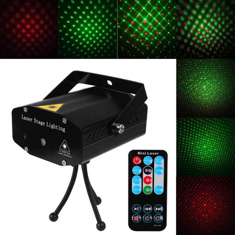 Mini Laser Stage Lighting by Laser Pointer Stage Light Pattern Projector Ir Remote