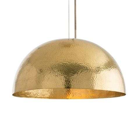 arteriors mambo golden brass dome pendant light theme