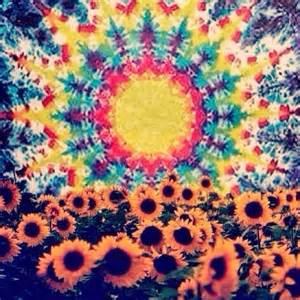 Sunflower Tie Dye Pattern