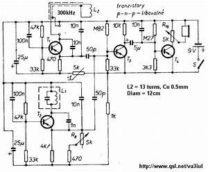 Manual Metal Detector Circuit Diagrams