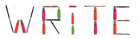 Write Word Made Of Writing Tools — Stock Photo © Fuzzbones #6239659