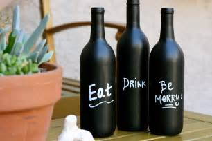 How To Prep Cabinets For Painting by Diy Wine Bottle Art With Chalkboard Paint