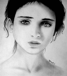 Drawing Girl Face Sad - Drawing Of Sketch