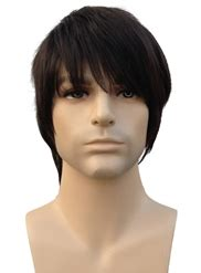 short straight full bang synthetic hair mens wigs wigsbuycom