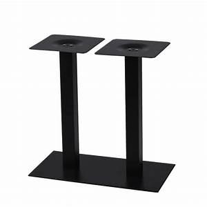Plateau Pour Table : pied de table pour plateau rectangulaire en acier noir ultra plat pzn 527 one mobilier ~ Teatrodelosmanantiales.com Idées de Décoration