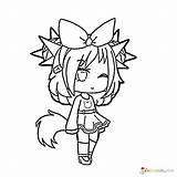 Gacha Coloring Pages Raskrasil Printable Unique Fox Drawings Anime Angel Characters Kawaii Winks Animationsa2z Wolf sketch template
