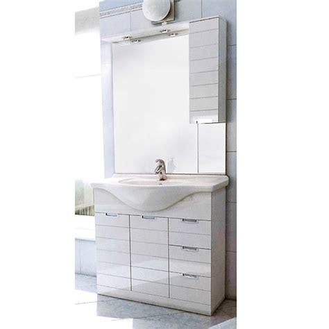 mobile bagno con specchio mobili bagno economici mobile bagno rigo 85 con specchio