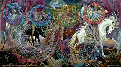 Horsemen Apocalypse Four Apocalipsis Religion Jinetes Wallpapers