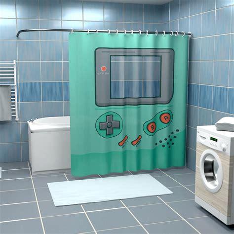 Dusche Mit Duschvorhang by Tragbare Spielkonsole Duschvorhang Getdigital