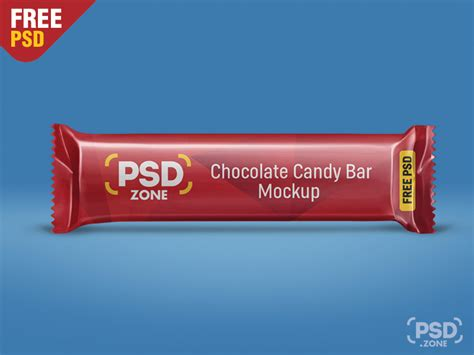 The biggest source of free photorealistic food mockups online! Free Chocolate Candy Bar Mockup PSD | free psd | UI Download