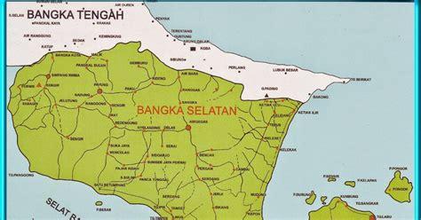 peta kota peta kabupaten bangka selatan