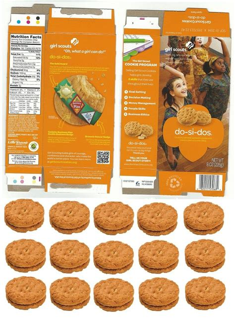doll sized girl scout   dos cookie box  matching
