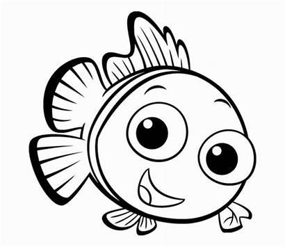 Fish Cartoon Coloring Pages Printable Getcolorings Sheet