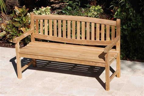 java oval teak bench oceanic teak furniture