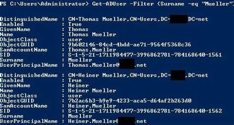 ad powershell basics   aduser active directory faq