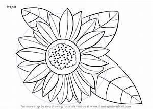 Learn How to Draw a Sunflower (Sunflower) Step by Step ...