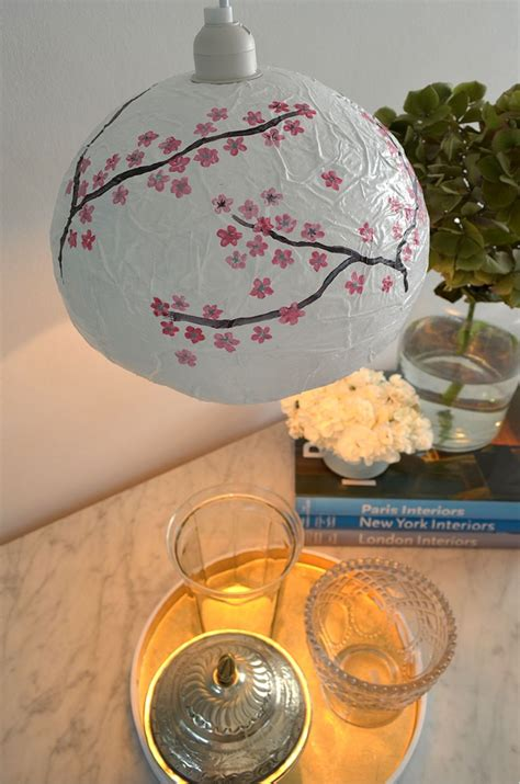 paper mache japanese style diy lamp shade ao life