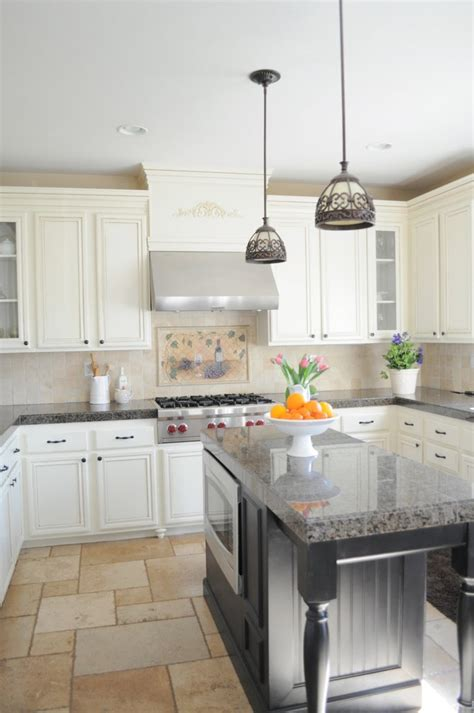 granite tile countertops kitchen traditional with country