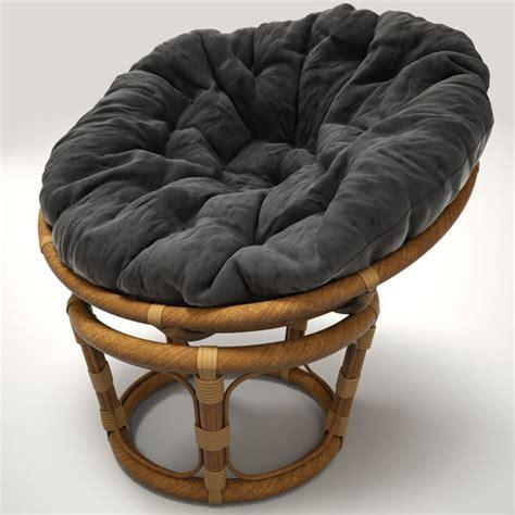Oversized Wicker Papasan Chair by Rattan Chair Papasan 3d Model Max Obj