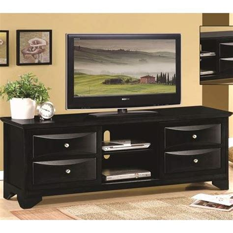 tv stands black tv stand  chambered drawer fronts