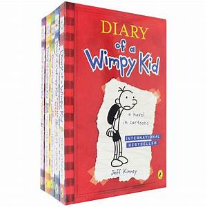 Diary Of A Wimpy Kid 5 Book Set By Jeff Kinney