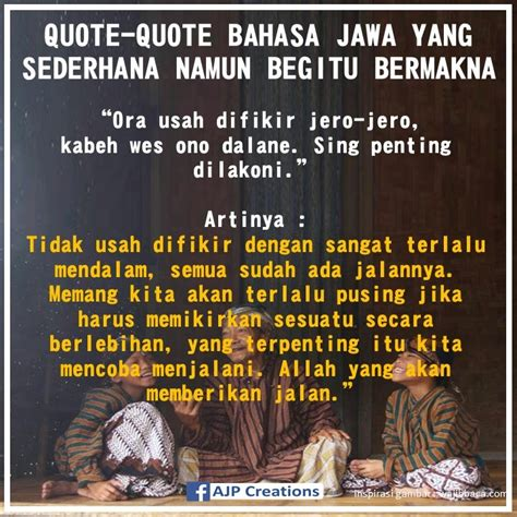 quote quote bahasa jawa  sederhana
