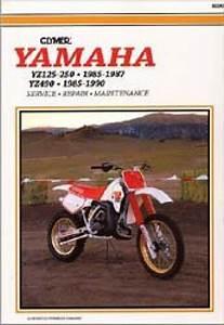 Yamaha Yz125 Yz250 1985  Yz490 1985