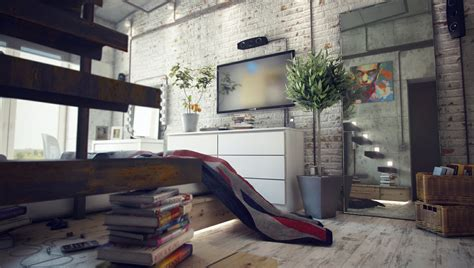 industrial home interior design casual loft style living