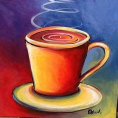 Choose your favorite coffee cup paintings from millions of available designs. COFFEE Cup Acrylic Painting Tutorial LIVE Easy Beginner ...