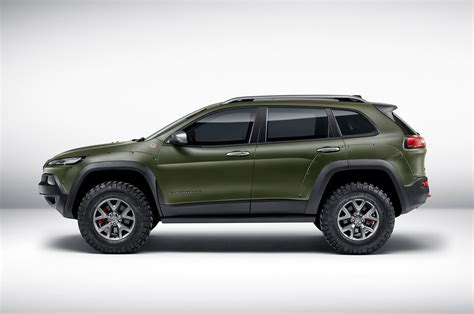 trailhawk jeep green jeep shows wrangler cherokee renegade concepts in frankfurt