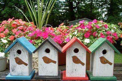 handmade decorative birdhouses adding personality