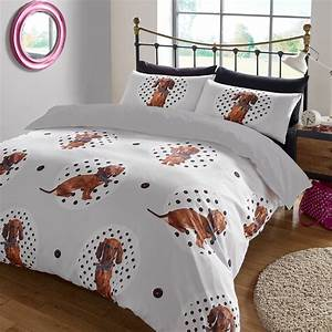 animal print duvet cover with pilllowcase bedding set With dog bedroom set