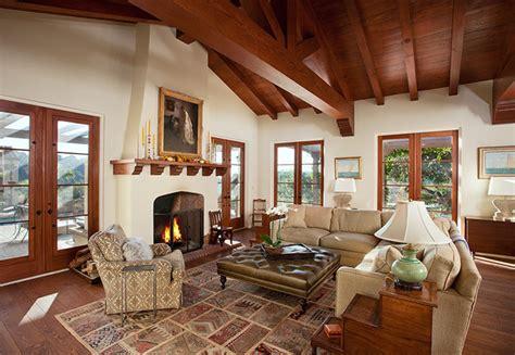 hope ranch spanish style custom home family room